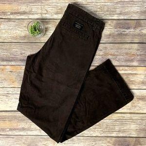 Banana Republic Brown Bootcut Chino Pants 30 X 32